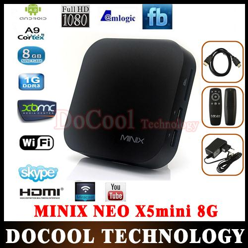 10PCS MINIX NEO X5 mini Android TV Box MiniPC Dual Core 1.6GHz 1G/8G WiFi USB RJ45 HDMI XBMC Media Player Smart Set Top Box(China (Mainland))