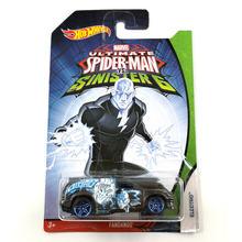 Hot Wheels Carro MARVEL Ultimate Spider Man Sinister6 Edição de colecionador de Carros De Metal Diecast Brinquedos Dos Miúdos Do Veículo Para O Presente 10 pçs/set(China)