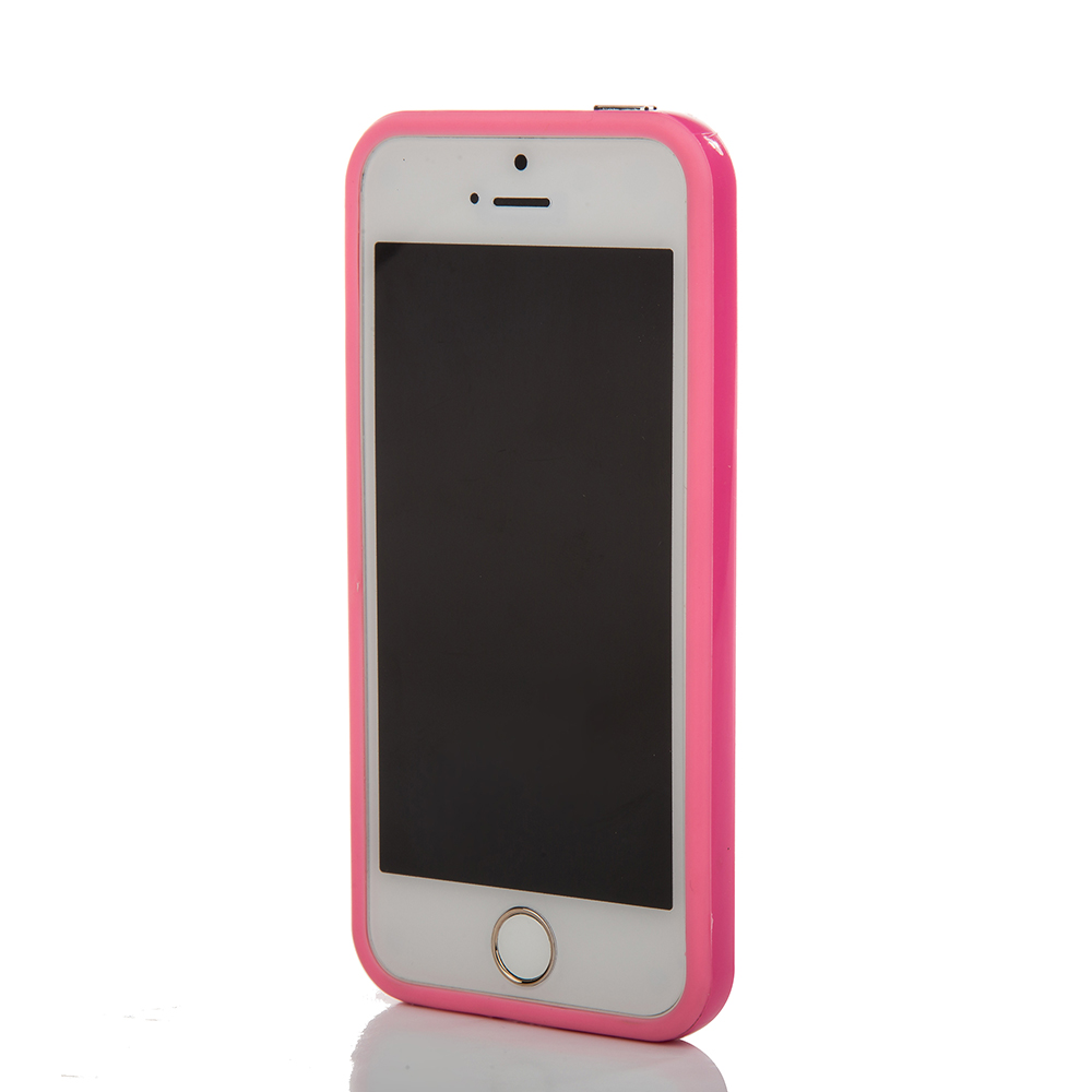 Candy Color Plastic Cellphone Protective Bumper for Iphone5/5s Phone Case Accessory(China (Mainland))