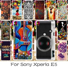 DIY Hard Plastic Soft TPU Silicon Mobile Phone Case Sony Xperia E5 F3311 F3313 5inch Covers Colorful Life Shell Housing Skin - TAOYUNXI 3C Products Store store