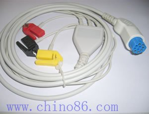 Artema/S&amp;W one piece three lead ECG cable with leadwire,electrode: clips snap, end also available<br><br>Aliexpress