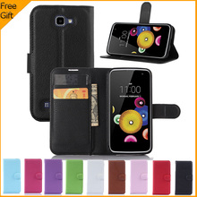 "Buy LG K4 Case Luxury PU Leather Case LG K4 Lte K120e K130e 4.5"" K 4 Flip Protective Phone Shell Back Cover Skin Slot for $3.35 in AliExpress store"