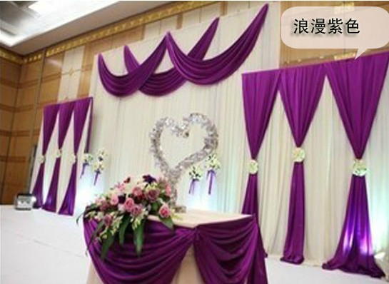 deluxe backdrop purple swag pipe drape wedding wedding wedding decorstage - Aliexpress Decoration Mariage