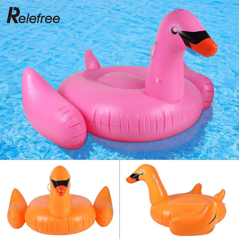 Promotions! Kid Adult Inflatable Swan Floating Swimming Pool Float Circle Giant Rideable Pool Inflatable Toys Float Swim Rings(China (Mainland))