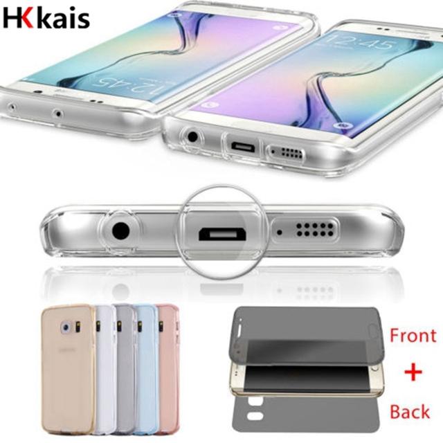 Передняя Прозрачная ТПУ Soft Touch Case всего тела Ясно Чехол Для Samsung Galaxy S7 S7 Edge