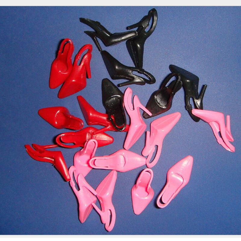 500Pairs/lot Wholesale Cheap Beautiful Mini Doll High Heels Plastic Shoe Doll 1/6 <br><br>Aliexpress