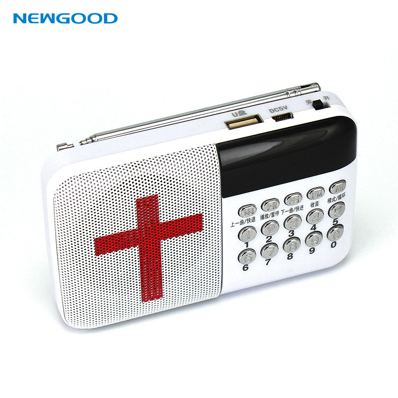 Factory Price Universal Stereo Bible Portable Radio TF Card FM Digital Radio with LED Screen N-302(China (Mainland))