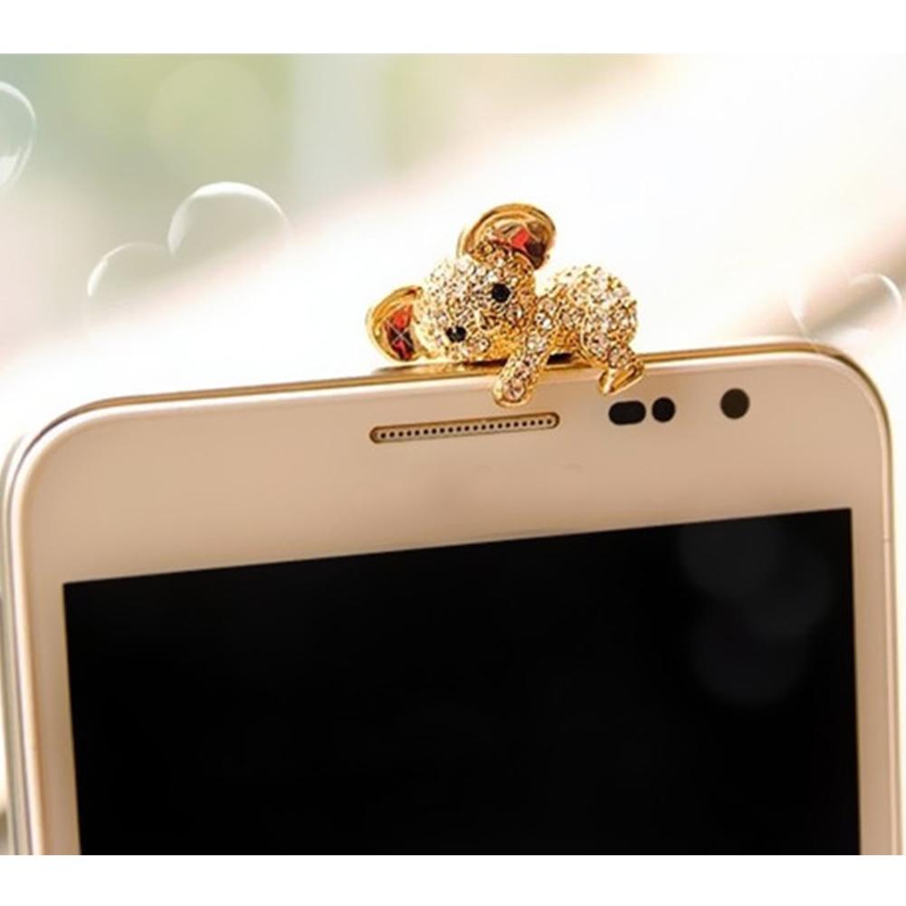 2016 Hot Sale Fashion Style Cute Koala Design Mobile Phone Ear Cap Dust Plug For all 3.5mm Earphone Plug Smart Phone(China (Mainland))