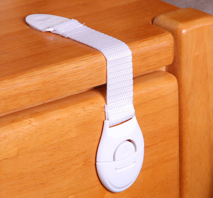 10pcs/lot Children Kids Baby Care Safety Security Cabinet Locks & Straps Products For Cabinet Drawer Wardrobe Door Fridge Toilet(China (Mainland))