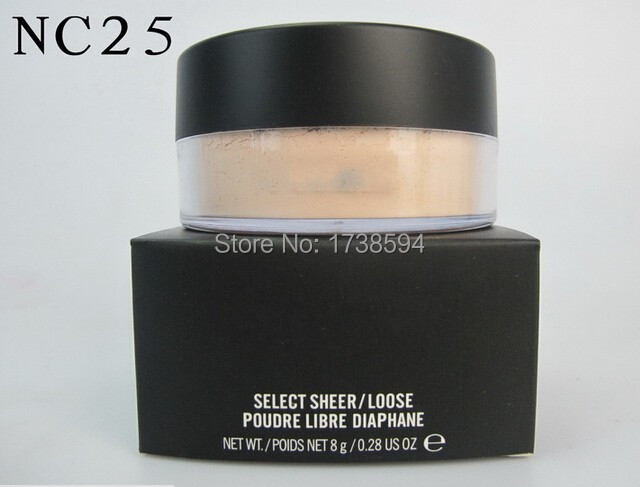 Beauty products MC fashion Brand makeup select sheer loose powder ,mineral powder 8g foundation dropship free shipping(China (Mainland))