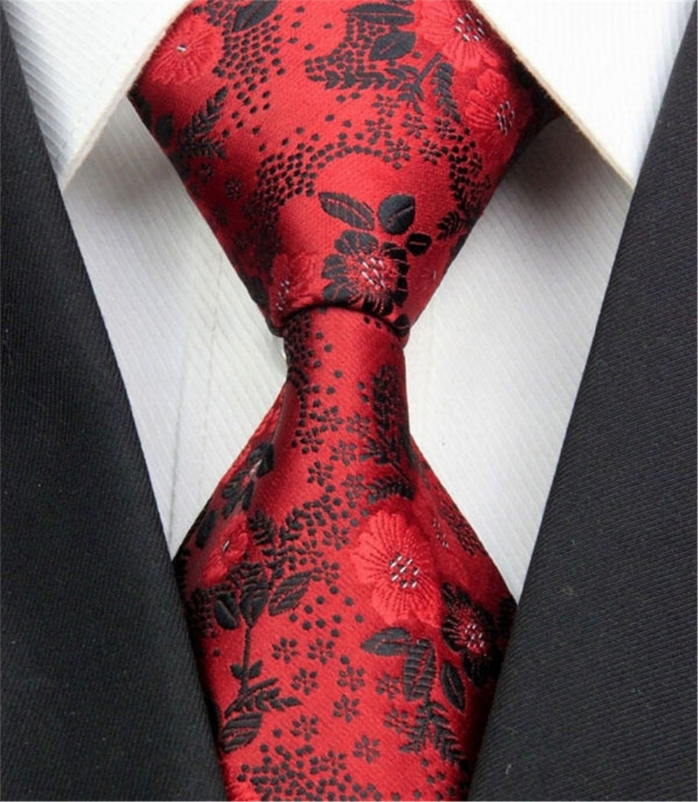 2015 Brand Fashion Floral Pattern Jacquard Woven Classic Men's Business Silk Tie Casual Polyester Necktie Tie for Me
