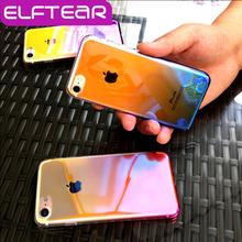 ELFTEAR Gradient Color Transparent Case For iPhone 6 6S 6 PLUS 7 7 Plus 4.7'' 5.5'' Hard PC Cases Cover Fundas(China (Mainland))