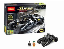 Baby Toys Decool 7105 Building Blocks Super Heroes cars Batman joker Minifigures Bricks action Toys(China (Mainland))