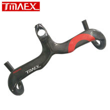 Buy TMAEX Full 3k Carbon Fibre Road Bicycle Intergrate Handlebar Glossy Red Cycling Road Bike Handlebars Stem 340-360g for $45.60 in AliExpress store