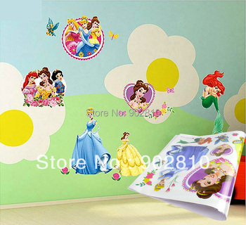 [listed in stock]-40x80cm (15.7x31.5 in) on Wall Princess Girl Room Nursery Art Peel and Stick Art Wall Sticker Decal