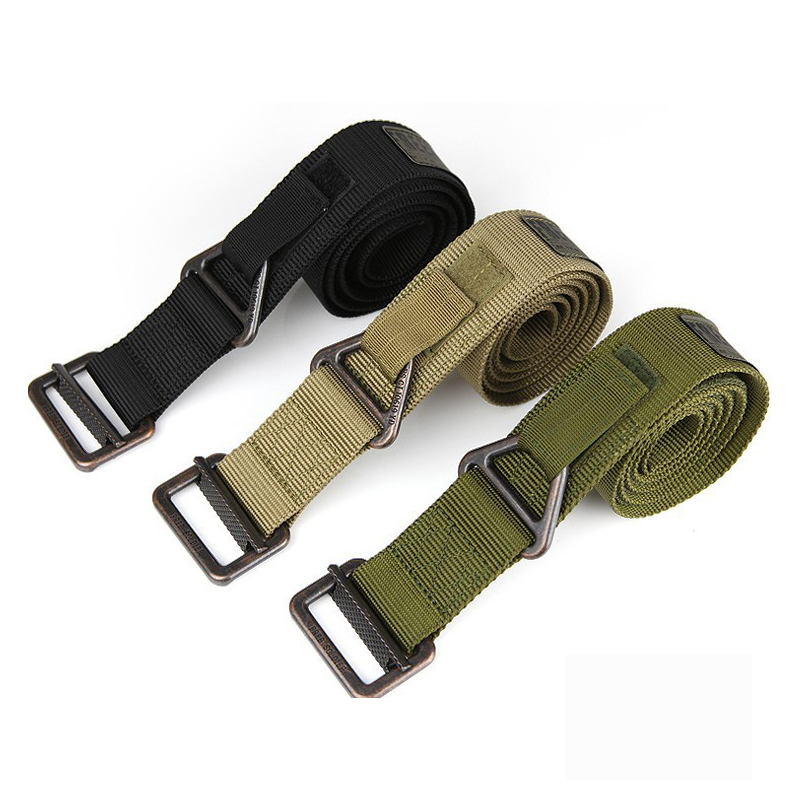 Tactical Belt Men's Military Belts Army Thicken Canvas Outdoor Waistband Adjustable Hunting Emergency Rigger Survival - BlueSardine store