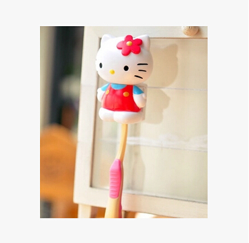 Over $20 provide10% off discount Hello Kitty Automatic Toothbrush Holder Portable Sucker Suction Holder Accessories for Bathroom(China (Mainland))