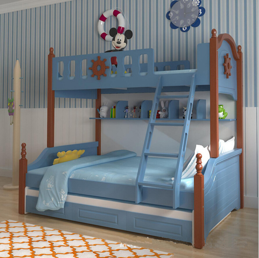 Webetop mediterranean style furniture cartoon bunk bed for for Mediterranean style bedroom furniture