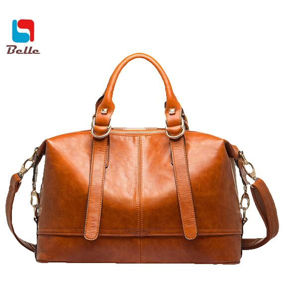 Boston Women bag ladies genuine leather Messenger bag designer handbags high quality Large bags handbags women famous brands V6G(China (Mainland))