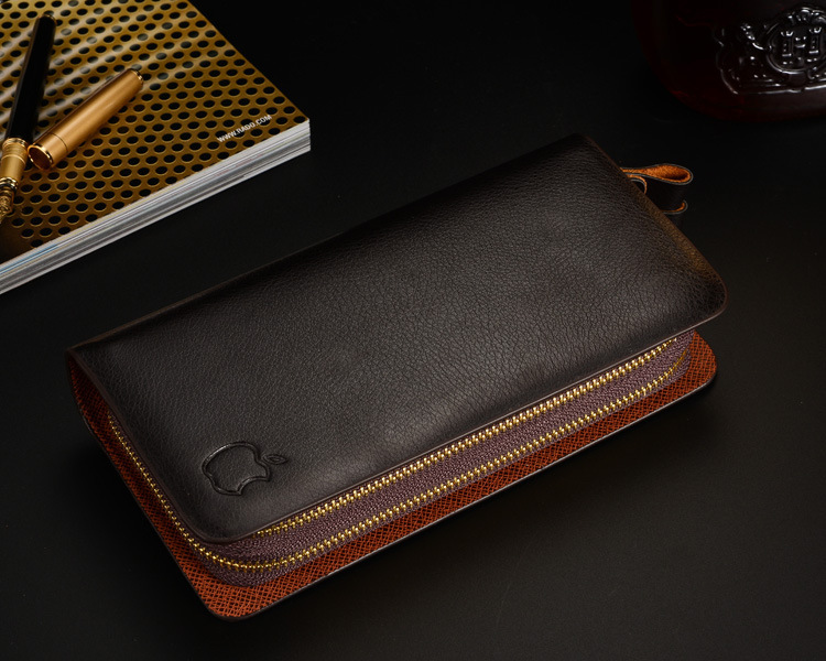 M03 brand handbag genuine leather purse men the fashion clutch men s wallets black coffee colour