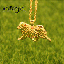 2019 Keeshond Necklace Dog Animal Pendant Gold Silver Plated Jewelry For Women Male Female Girls Ladies Kids Boys N109(China)