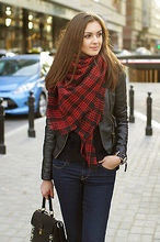 Womens Winter Large Blanket Oversized Shawl Plaid Check Warmer Tartan Scarf Wrap