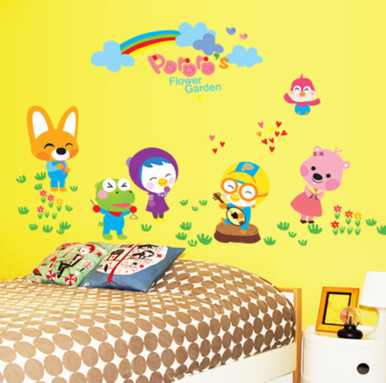 new animals park large wall stickers cartoons for kids rooms decor bedroom diy art decals removable pvc wall sticker(China (Mainland))