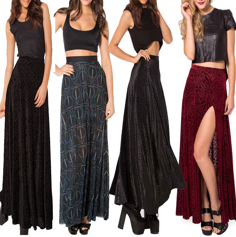 Cheap Long Black Skirts