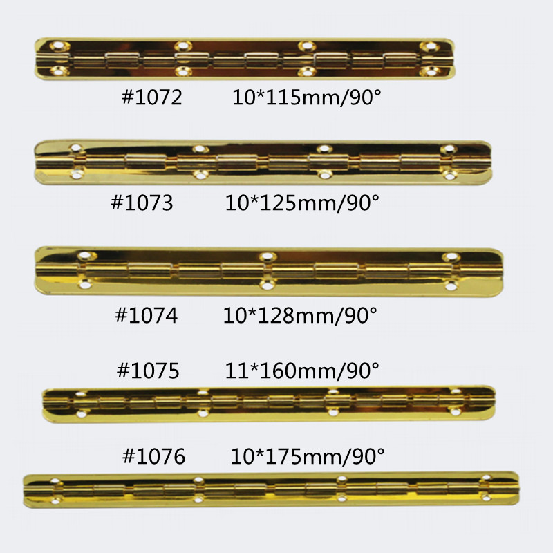 115/125/128/160/175mm Hinges With Screws For DIY Wooden Box Furniture Hardware Accessories 100PCS/lot(China (Mainland))