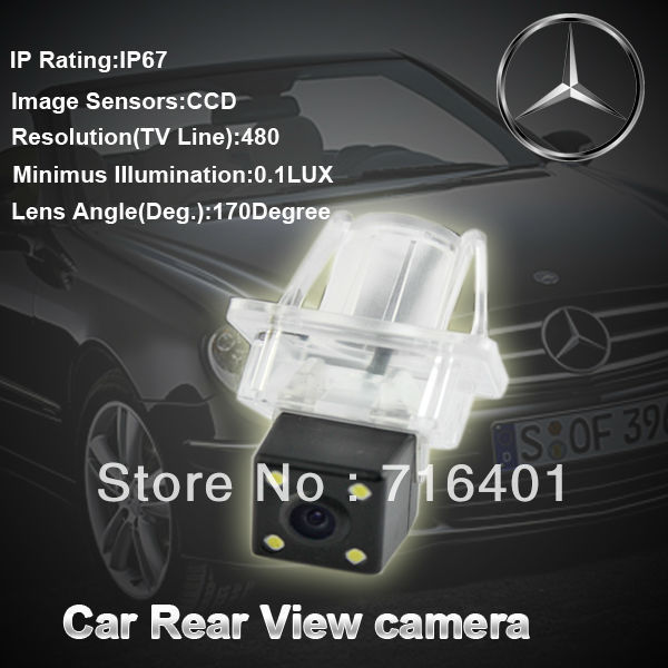 CCD chip HD Car rear view camera backup camera for Mercedes Benz with 170 degree view angle