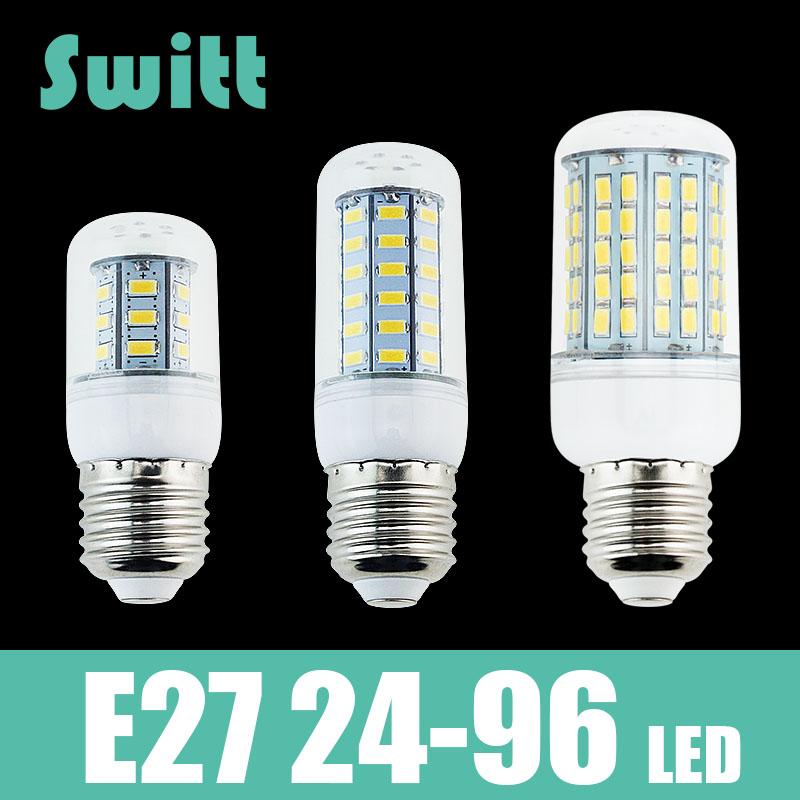 LED Lamp corn bulb Spotlight SMD 5730 lampada led E27 High Power 220v 240v lamparas 24 36 48 56 69 72 96 leds Warm Cold white