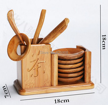 Bamboo Tea Set With Tea Tray 11 pcs China Gongfu Tea Service Tools Teaset Dao Of  Tea