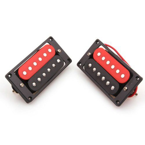 1 Set Of 2 Humbucker Double Coil Electric Guitar Pickups Black/Red(China (Mainland))
