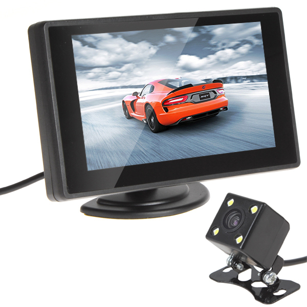 480 x 272 Resolution 4.3 Inch Color Lcd Car Monitor + 420 TV Lines Night Vision Camera with 170 Degrees Wide Angle Lens(China (Mainland))