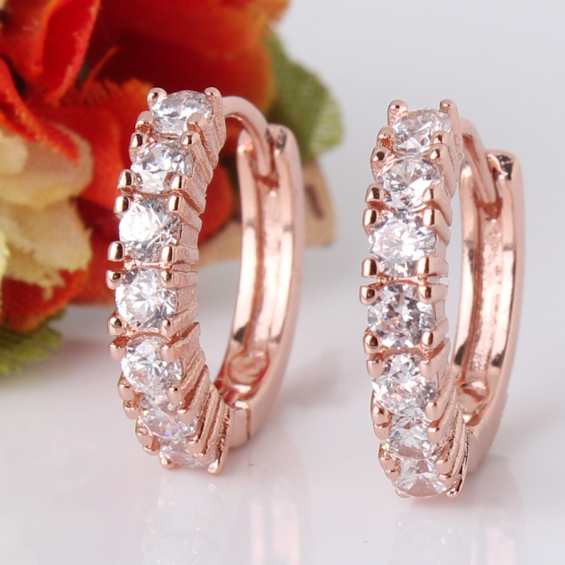 Hot Sale Items 18K Rose Gold Plated Earrings Special Style Romantic Hoop Earing Women Jewellery Wholesale E121c(China (Mainland))
