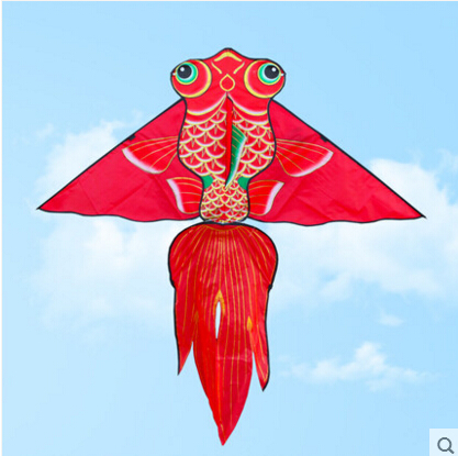 free shipping high quality 1.6m carp fish kite with handle line weifang kite flying dragon kite factory ripstop nylon fabric toy(China (Mainland))