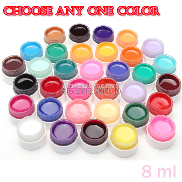 High Quality Gel Nail Polish uv nail for Choose UV lamp UV Gel 8ml Solid color gel nail art(China (Mainland))