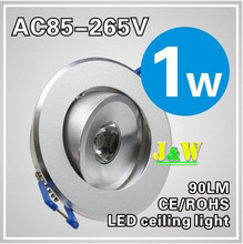 A+Quality 1W 3W LED Downlight Ceiling Down light recessed Spotlight Lamp 85~265V Cool |Warm white+ LED driver 50pcs/lot(China (Mainland))