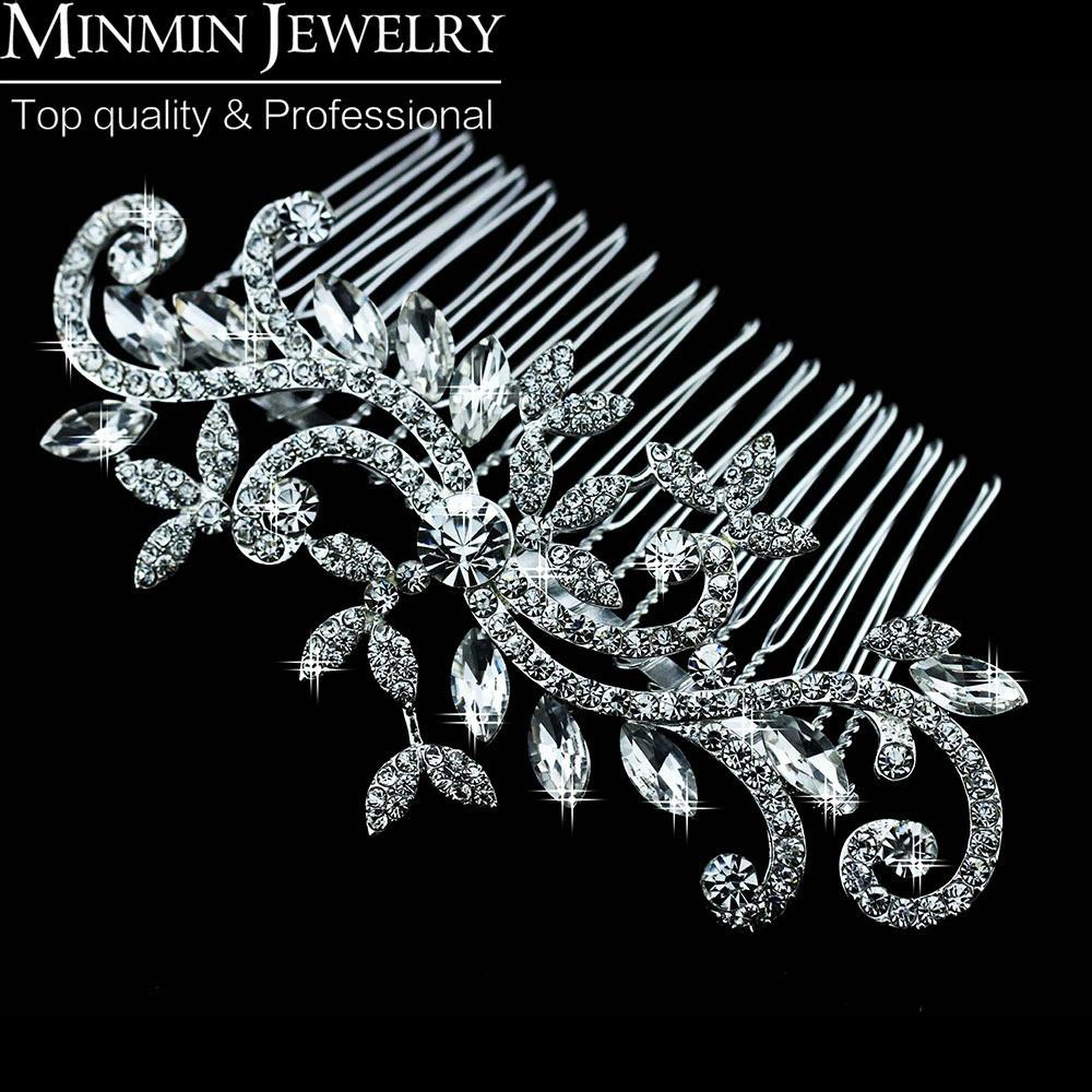 New 2015 Leaf Crystal Imitation Gemstone Bridal Hair Combs Hairpin Tiara Wedding Hair Accessories Hair Jewelry FS001(China (Mainland))