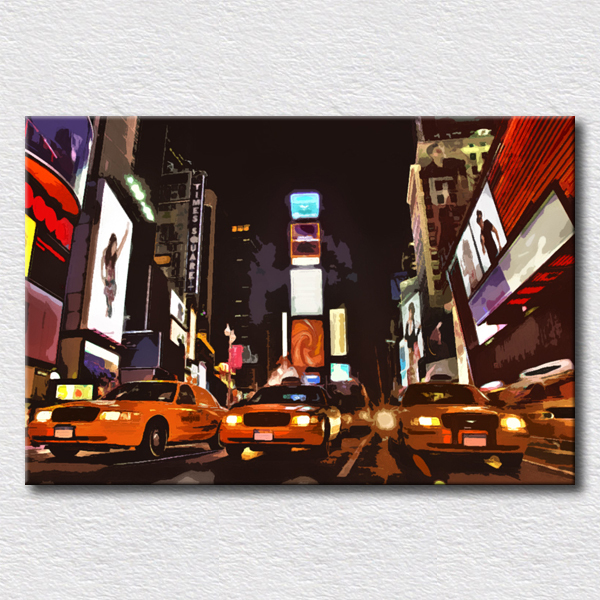 New York pictures oil painting pop art modern picture for living room decoration wall arts for friends gift(China (Mainland))