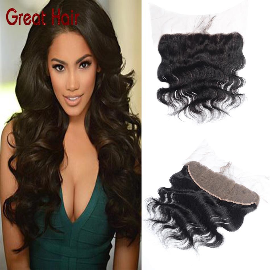 Brazilian virgin hair Ear To Ear full Lace Frontal Closure body wave Human Hair 13*4 silk Bleached Knots Swiss Lace frontal<br><br>Aliexpress