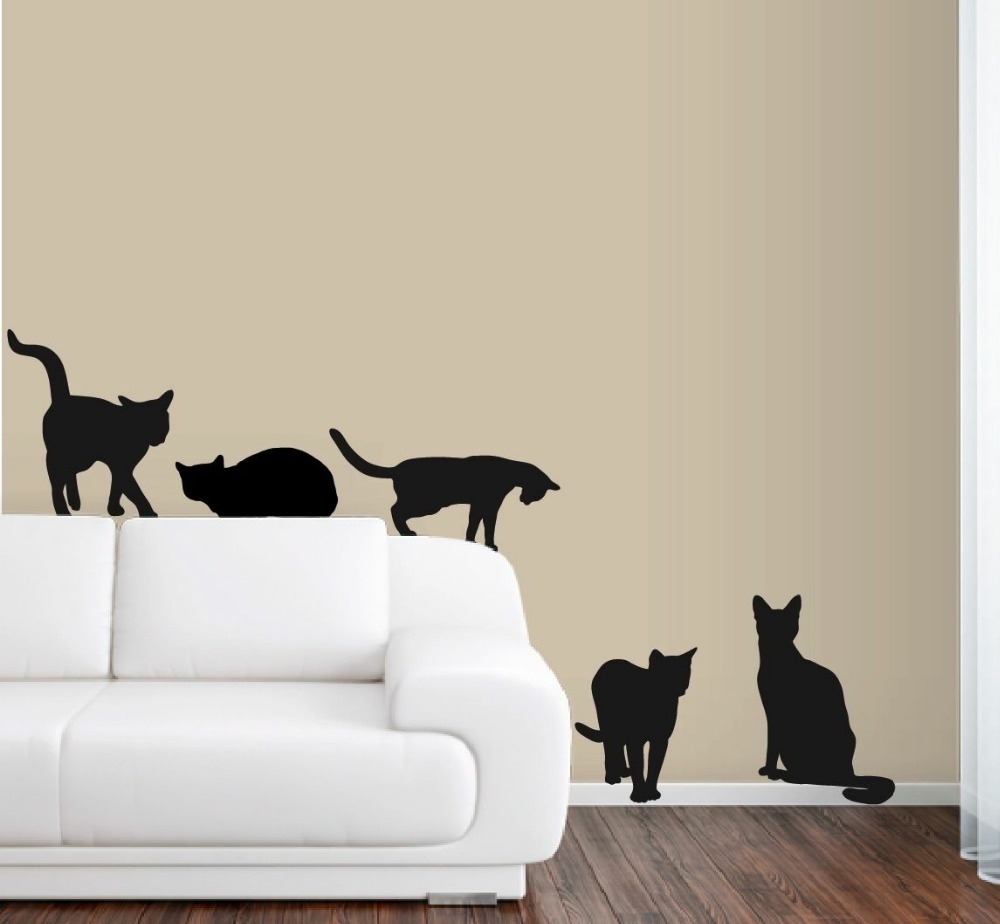 6 cats wall decals in life size deco art sticker mural classic star wars wall decals life size jedi master yoda