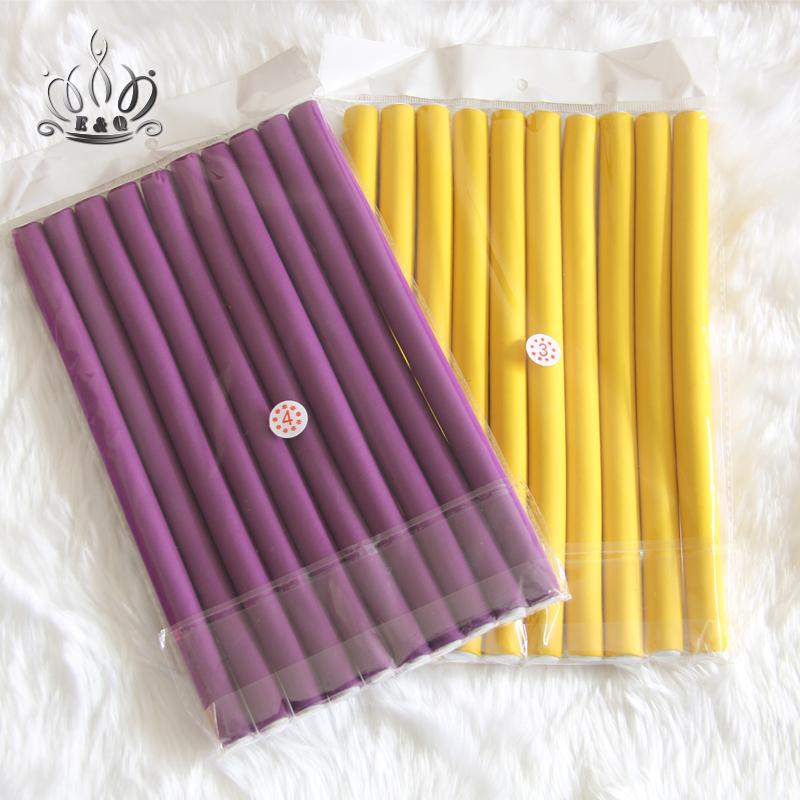 7A Unprocessed ElegantQueen Hair Products Hair Curling Flexi rods Magic Air Hair Roller Curler Bendy Magic Styling Hair Sticks(China (Mainland))