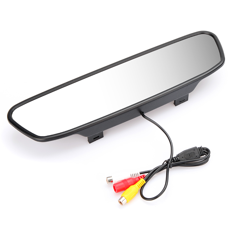 "High quality 5"" Digital Color TFT LCD Car Rearview Mirror Monitor Parking Reverse Monitor for Camera DVD VCR(China (Mainland))"