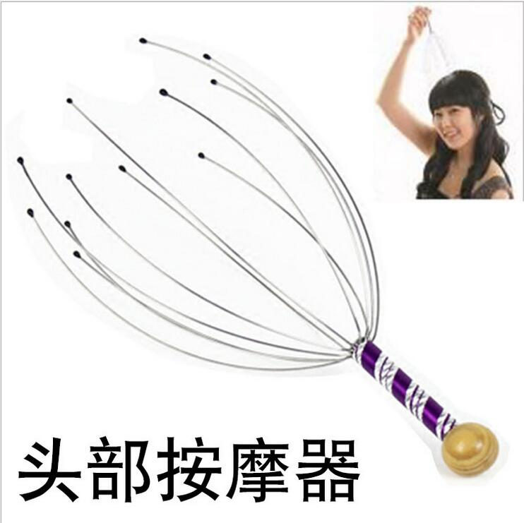 Manual scalp hand head massager head before neck scalp massager claw items with full-quality stainless steel wire relxing(China (Mainland))