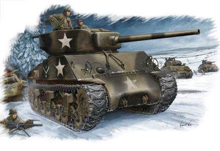 HobbyBoss 1/48 84805 U.S M4A3 76 (W) Sherman Tank Plastic Model Kit Free Shipping(China (Mainland))