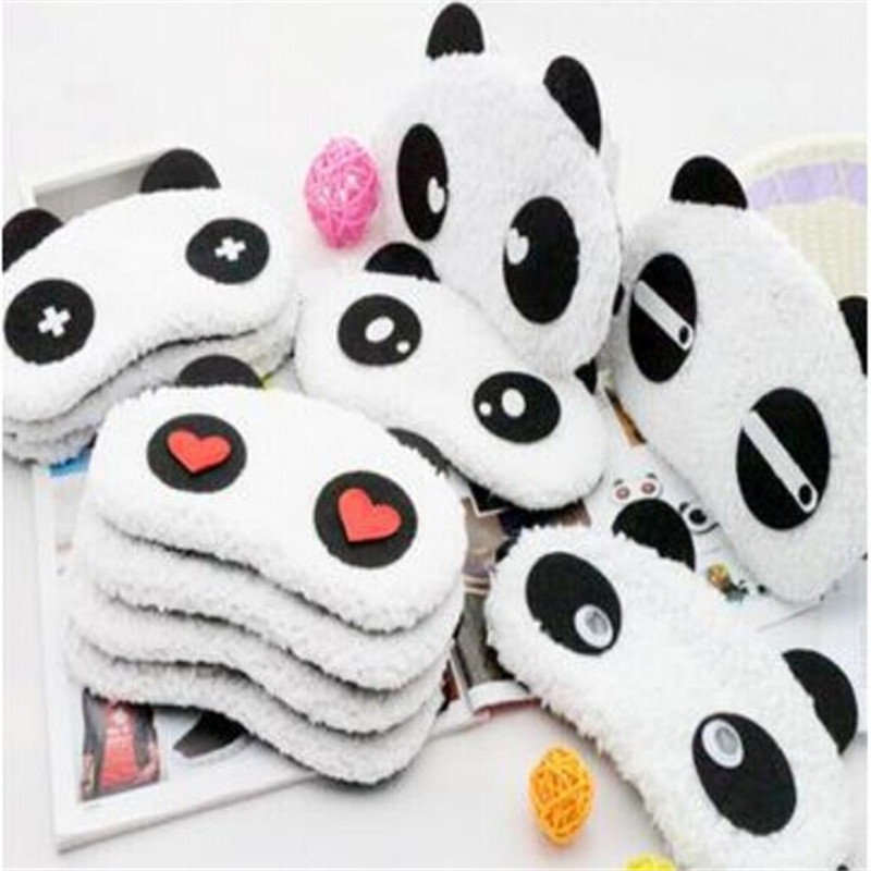 1pcs lovely Panda Sleeping Eye Mask Nap Eye Shade Cartoon Blindfold Sleep Eyes Cover Sleeping Travel Rest Patch Blinder(China (Mainland))