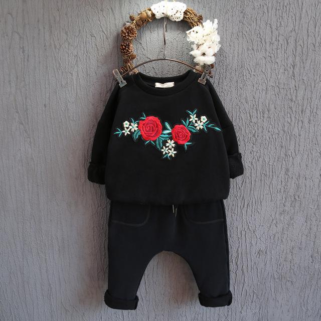2016 осень зима новый Корейских детей свитер нейтрального вышивка аппликация утолщение набор глава свитер грунтовка бесплатная доставка