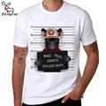 ZiLingLan Brand Summer Breathable Cotton T shirts Bad French Bulldog Printed T Shirt Novelty Short Sleeve
