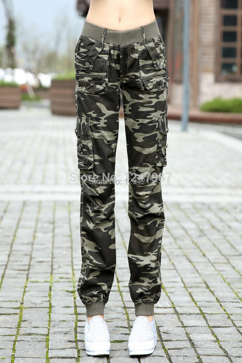 Beautiful Women Military Cargo Pants Ladies Army Pants Military Style 2017 New